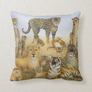 The Big Cats Throw Pillow