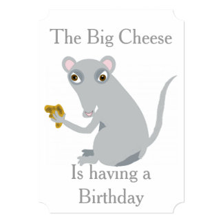 The Big Cheese Birthday Party Invitations