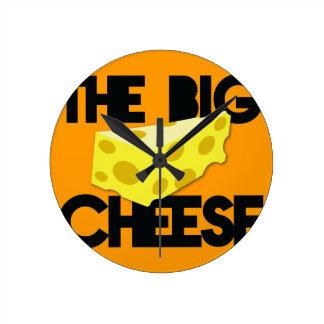 The BIG CHEESE! Round Clock