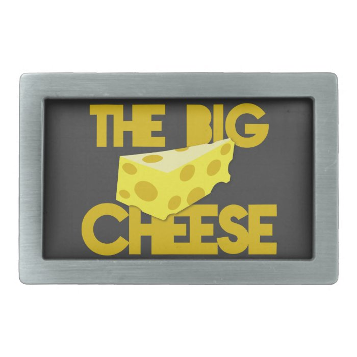 THE BIG CHEESE the boss design with cheese! Belt Buckle