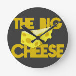 THE BIG CHEESE the boss design with cheese! Clock
