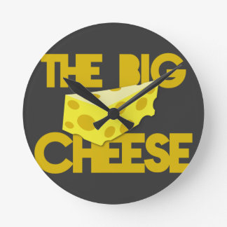 THE BIG CHEESE the boss design with cheese! Round Clock