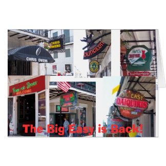 The Big Easy is Back Card