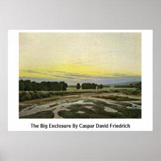 The Big Enclosure By Caspar David Friedrich Print