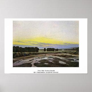 The Big Enclosure By Friedrich Caspar David Poster