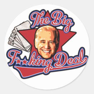 The Big F**king Deal Biden Round Stickers