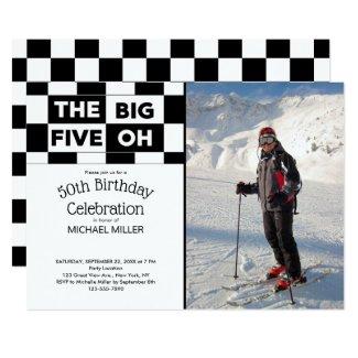 The Big Five Oh 50th Birthday Photo Invitation