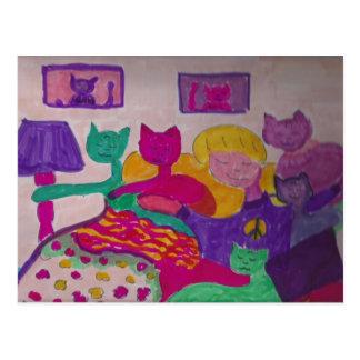 The Big Girl & M-Cats Postcard