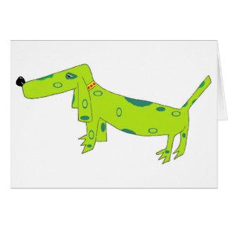 The Big Green Dog card by Hotcakes Creative