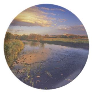 The Big Hole River at last light near Jackson Plate