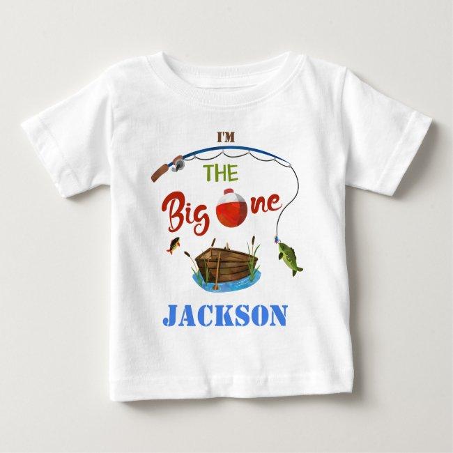 The big ONE baby t-shirt Boy O-fish-ally ONE shirt