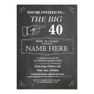 The Big One Birthday Party Rustic Chalk Invite