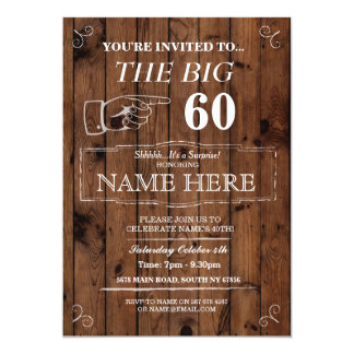 The Big One Birthday Party Rustic Wood Invite