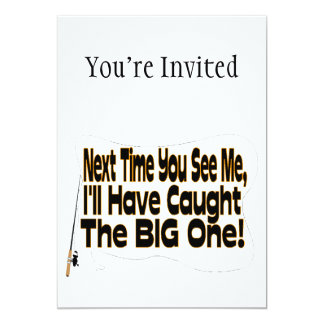 The Big One Fishing 5x7 Paper Invitation Card