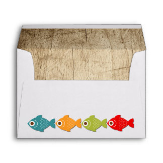 The Big One Fishing Theme Boys First Birthday Envelope