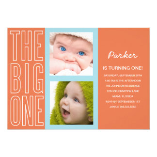 THE BIG ONE IN ORANGE | FIRST BIRTHDAY INVITATION