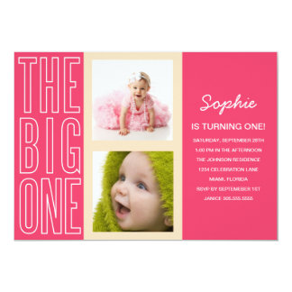THE BIG ONE IN PINK | FIRST BIRTHDAY INVITATION