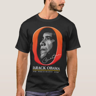 The Big Orange O 2 - Barack Obama for President T-Shirt