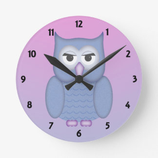 The Big Owl Childrens Learning Round Clock