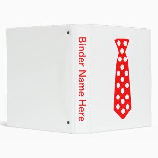 The Big Red and White Polka Dot Tie. Fun Pop Art. Binder