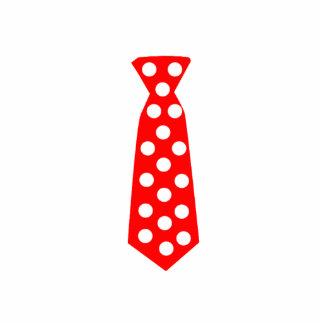 The Big Red and White Polka Dot Tie. Fun Pop Art. Cutout