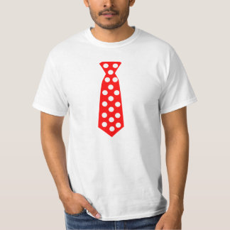 The Big Red and White Polka Dot Tie. Fun Pop Art. Tee Shirt