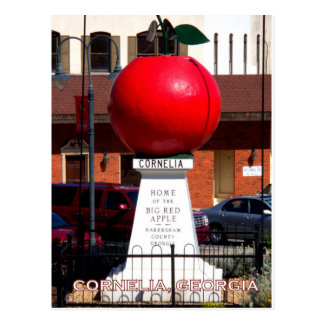 THE BIG RED APPLE - Cornelia, Georgia Postcard