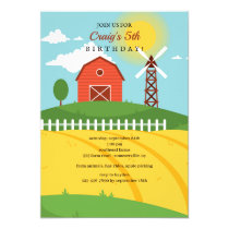 The Big Red Barn Birthday Invitation