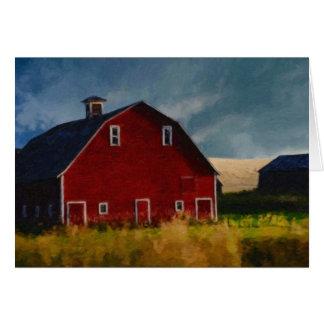 The Big Red Barn Card