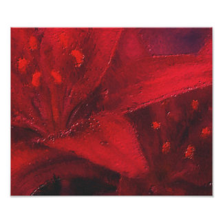 The Big Red Flower Poster