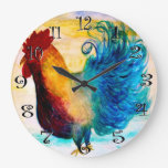 The big red rooster wall clock.
