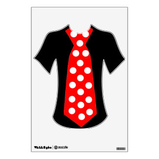 The Big Red Tie. Cool Pop Art wall decal design