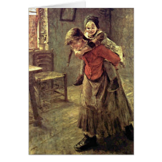 The Big Sister By Fritz Von Uhde Greeting Card