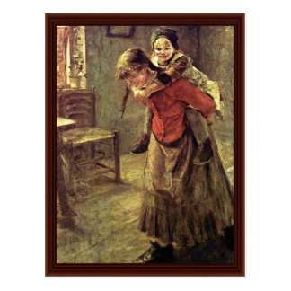 The Big Sister By Fritz Von Uhde Postcard