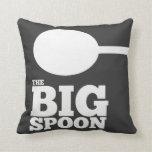 the BIG spoon pillow Throw Pillow