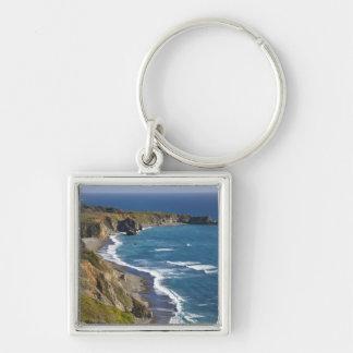 The Big Sur coastline in California, USA Silver-Colored Square Keychain