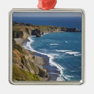 The Big Sur coastline in California, USA Square Metal Christmas Ornament