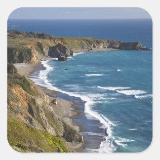The Big Sur coastline in California, USA Square Sticker