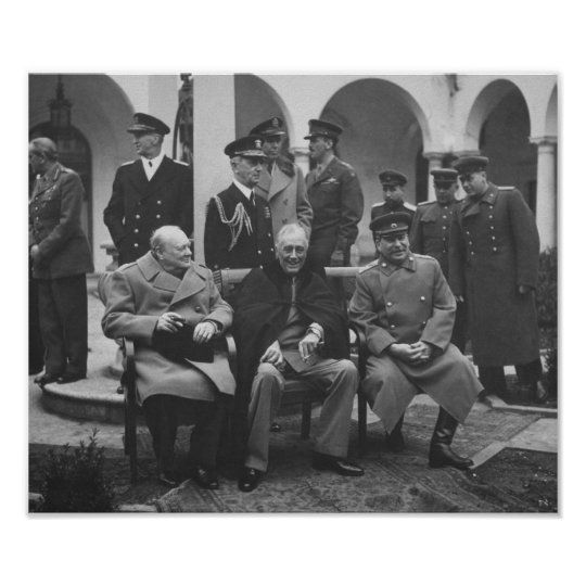 The Big Three During Yalta Conference Ww2 Poster Zazzle