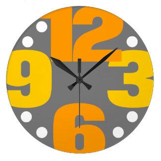 The Big Time - yellow Large Clock