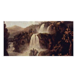 The Big Waterfalls At Tivoli By Hackert Jacob Phil Photo Card