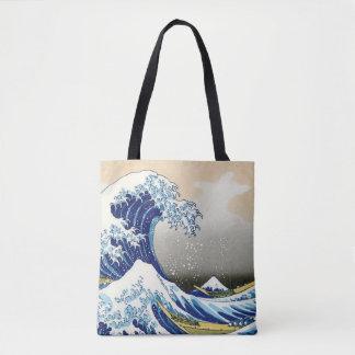 The Big Wave of Kanagawa Hokusai Katsushika art Tote Bag