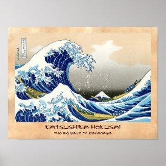 The big wave of Kanagawa Katsushika Hokusai Posters