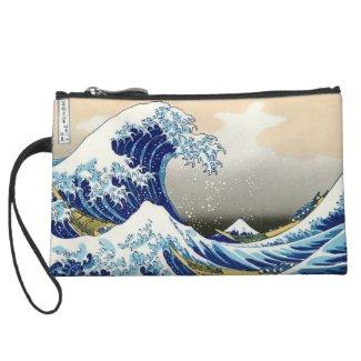 The big wave off Kanagawa Katsushika Hokusai Wristlets