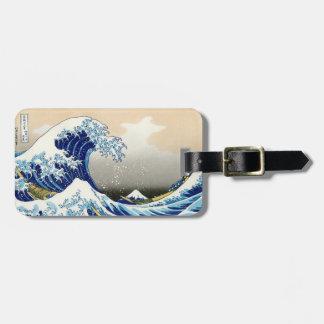 The big wave off Kanagawa Katsushika Hokusai Bag Tag