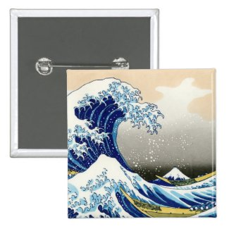 The big wave off Kanagawa Katsushika Hokusai Button