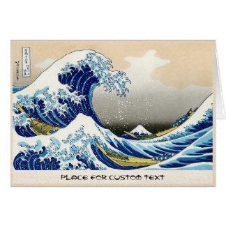 The big wave off Kanagawa Katsushika Hokusai Card