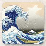 The big wave off Kanagawa Katsushika Hokusai Beverage Coasters