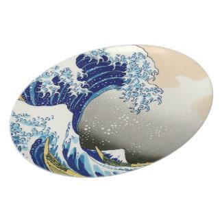 The big wave off Kanagawa Katsushika Hokusai Dinner Plate