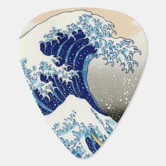The big wave off Kanagawa Katsushika Hokusai Guitar Pick